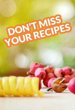 Don't miss your recipes